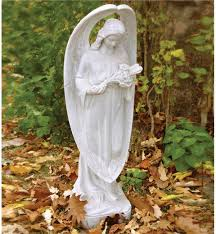 angel garden. garden angels angel statues wind weather