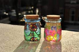 stained glass jar 16
