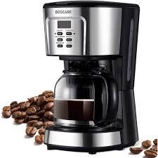 Click image for more info. Boscare Programmable Coffee Maker 2 12 Cup Drip Coffee Maker Mini Coffee Machine With Auto Shut Off Strength Control Silver Black Walmart Com Walmart Com