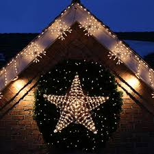 outdoor xmas lighting. Holiday Star Wreath Outdoor Xmas Lighting A