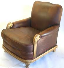 art deco leather club chair vintage omero home