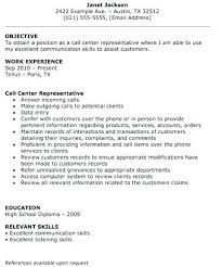 12 Call Center Resumes Samples Proposal Bussines