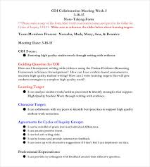 Meeting Note Taking Template Awesome Meeting Notes Template 48 Free Word PDF Documents Download
