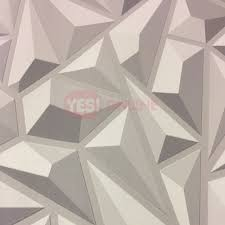 3D Effect Grey Geometric Wallpaper ...