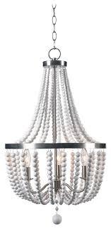 dumas 3 light wood bead chandelier