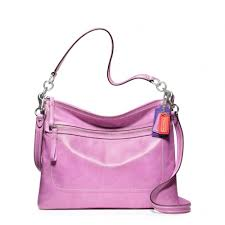 Lyst - Coach Poppy Leather Perri Hippie in Pink