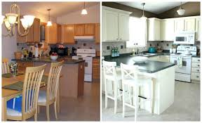 before and after pictures of painted oak kitchen cabinets can i spray paint my kitchen cabinet hardware