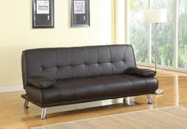 leather sofa bed. Montana Brown Faux Leather Sofa Bed