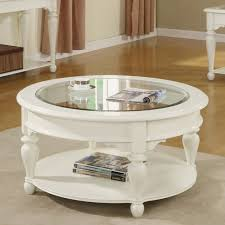 Wonderful Widely Used White Circle Coffee Tables Within Coffee Table  Amusing White Round Coffee Table White