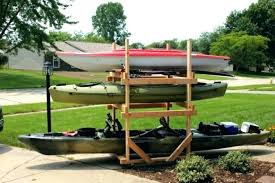 kayak storage solutions photo 3 of 8 rack side view build a garage outdoor diy wood