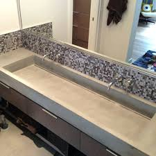 sinks concrete vessel sink diy make a ramp handmade slot drain concrete vessel sink diy