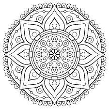 Free Mandala Coloring Pages Mandalas Printable Adult With Co