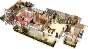 2 25 more 3 bedroom 3d floor plans 3d house layout planner bright