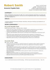 Computer Clerk Sample Resume Magnificent Accounts Payable Clerk Resume Samples QwikResume