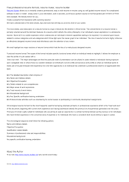 College Resume Builder Haadyaooverbayresort Com