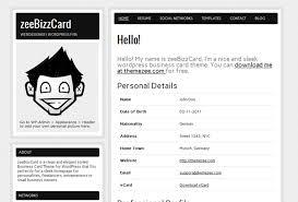 Wordpress Resume Template 95 Images Google Drive Resume