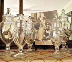 Apothecary Jar Decorating Ideas Nature in apothecary jars Just Vintage Home 26