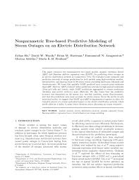 Connecticut Power And Light Outages Pdf Nonparametric Tree Based Predictive Modeling Of Storm