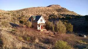 land with a tiny house
