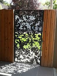 metal fence design. Etched Metal Fence Door Design