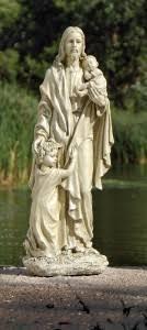 outdoor garden statues. Jesus With Children Outdoor Garden Statue - 24\u201c [GAR1026] Statues O