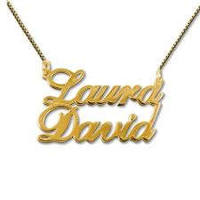 gold or silver two names pendant necklace custom jewellery by all uniqueness