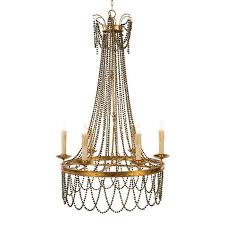 aidan gray amber chandelier in brown