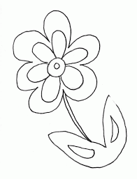 Rod, heart, petals, possibly some leaves, and that's all. Free Pictures Of Flowers To Color Coloring Home