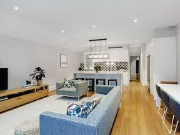 house with smart home technology and modern living room