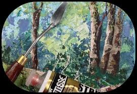 how to paint rocks and trees with a palette knife tips and tricks you