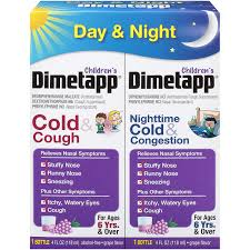 Childrens Dimetapp Cold Cough Childrens Dimetapp Nighttime Cold Congestion 4 Fl Oz Pack Of 2 Grape Flavor Decongestant Antihistamine