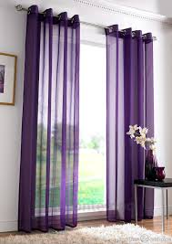 Net Curtains For Living Room Eyelet Ring Top Purple Voile Net Curtain Panel Purple Bedroom