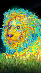 free lion trippy background for iphone