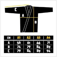 Ju Jitsu Gi Size Guide Martial Art Shop