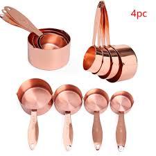 <b>4Pcs Solid</b> Tool Baking Cooking Measuring Cup Kitchen <b>Stainless</b> ...