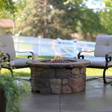 red ember richland in round propane fire pit table rockford il embers red hair ember