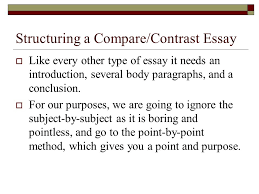comparison contrast from patterns for college writing ppt  structuring a compare contrast essay  like every other type of essay it needs an