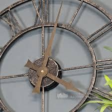 rustic metallic wall clock black