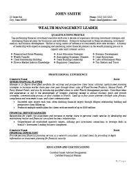 Wealth Management Resume Sales Management Lewesmr