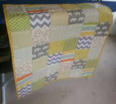 92 best Gender Neutral Baby Quilts...sew cute! images on Pinterest ... & Gender Neutral Baby Quilt Elephant gray green by SewOctober, $89.00 Adamdwight.com