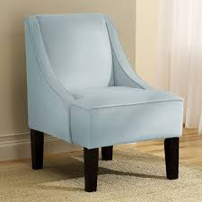 ... Armed Accent Chairs Accent Chairs Under 100 Elegant With Blue Color And  Wood Buffer ...