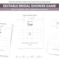 Gift Registry Template Bridal Shower Registry