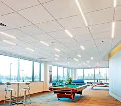 drop ceiling track lighting fig 1 an installation of tech t bar led linear fixtures at