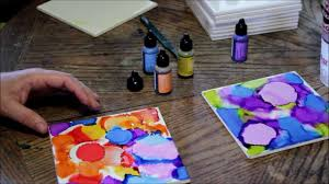 how to use alcohol ink on ceramic tiles cool diy home decorating idea you