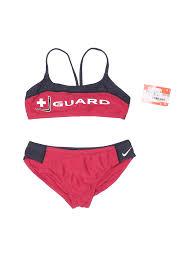 Nike Size Chart Women S Swimwear Details About Nwt Nike Women Red Two Piece Swimsuit 28 Plus