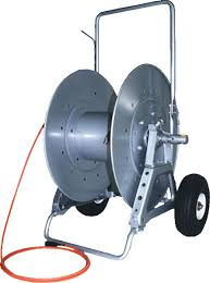 cable air hose reel with wheels