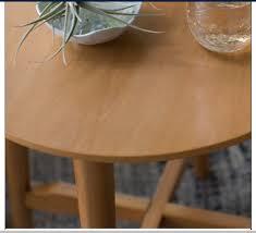 heywood retro round end table walnut