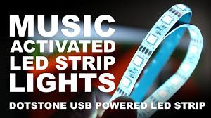 Led Lights Sync To Music Music Activated Led Strip Lights Dotstone Rgb Music Sync Usb Led Light Strip