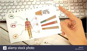 Hand Body Chart Human Body Chart On Sheet Of Paper And Hand Pointing Stock