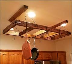 wooden frame pot rack